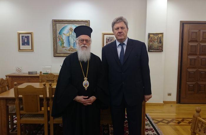 Посол России в Тиране встретился с главой Автокефальной православной церкви Албании