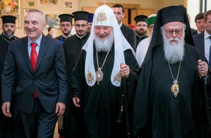 Патриарх Московский и всея Руси Кирилл впервые посетил албанскую церковь