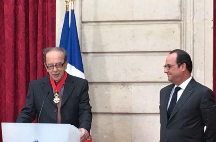 Франсуа Олланд вручил награду самому известному албанскому писателю современности
