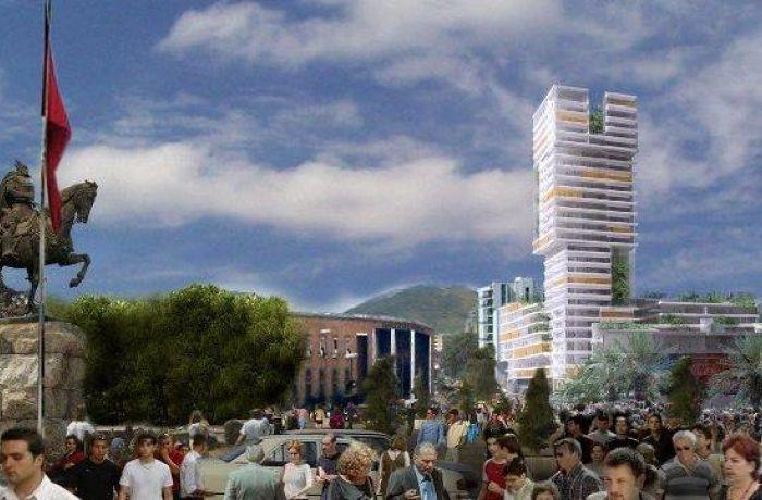 В столице Албании будет построен небоскреб Eyes of Tirana