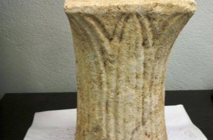 Капитель колонны 6-го века найден во время строительства газопровода TAP