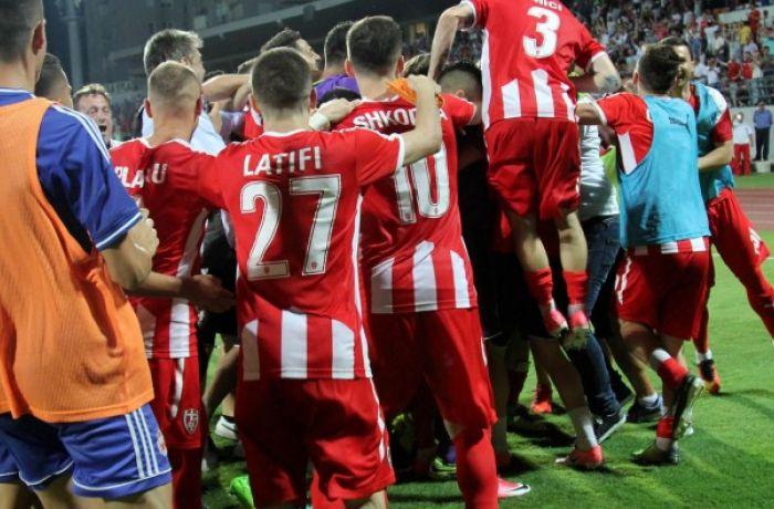 Албанский ФК Скендербеу вышел в плей-офф Лиги Европы УЕФА