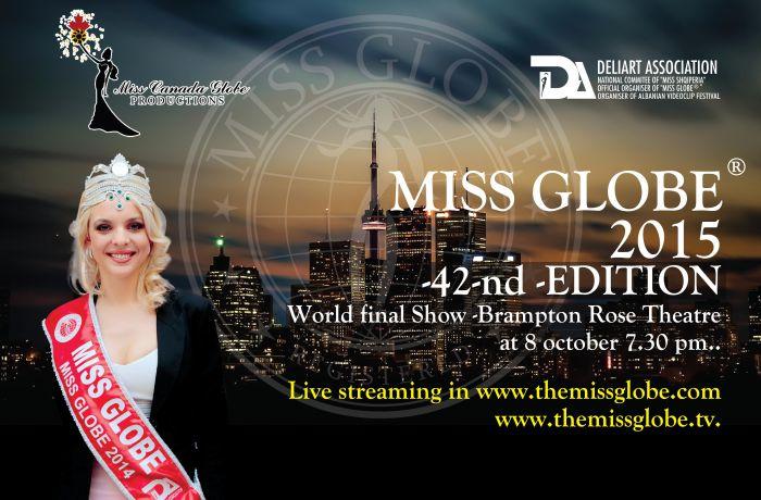 Кто будет представлять Албанию на конкурсе красоты Miss Globe 2015 в Канаде?
