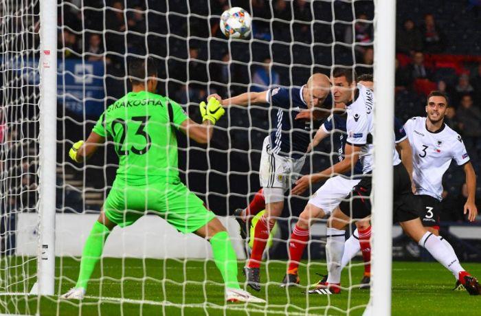 Сборная Албании по футболу уступила команде Шотландии со счетом 0-2