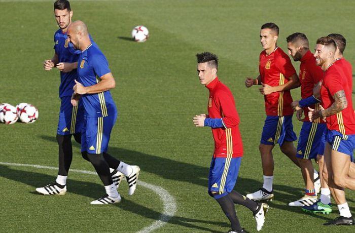 Как испанские футболисты готовятся к матчу против сборной Албании