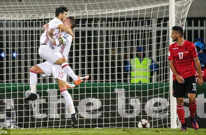 Сборная Албании по футболу уступила Испании со счетом 0-2