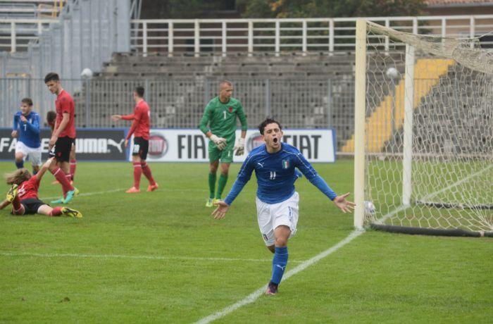 Молодежная футбольная сборная Албании уступила команде Италии со счетом 0-1
