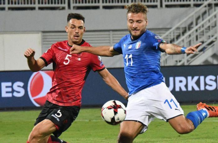 Сборная Албании по футболу проиграла итальянцам со счетом 0-1