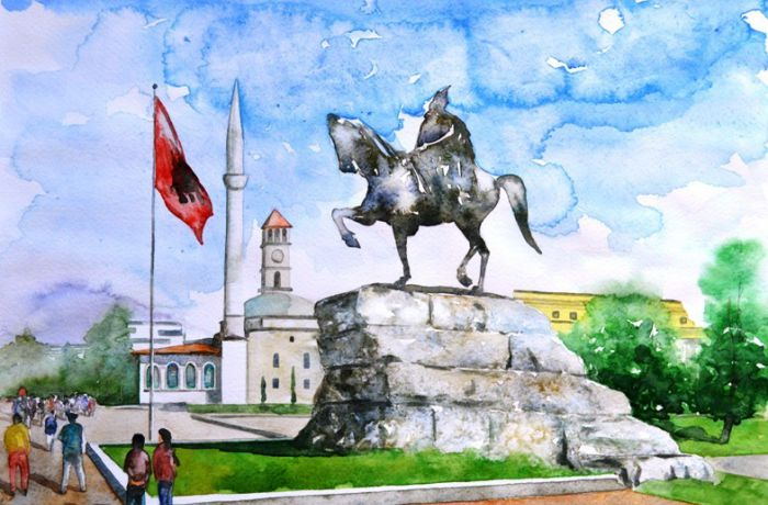 Почему любителям картин акварелью следует побывать в столице Албании?