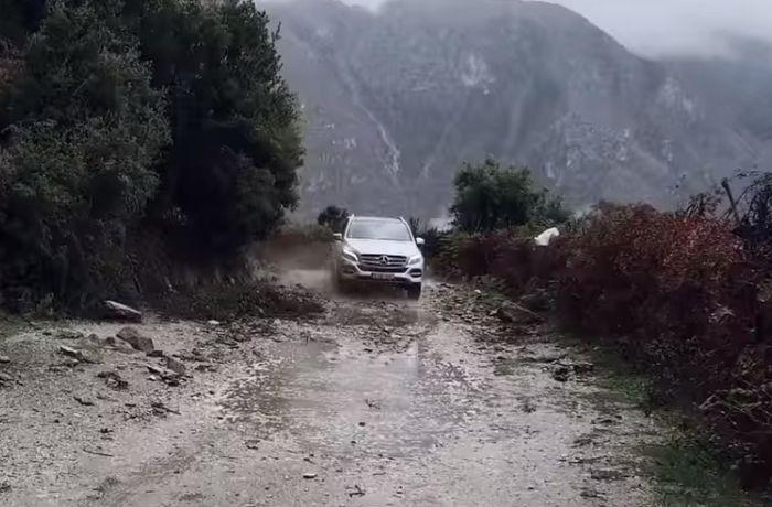Mercedes-Benz снимает рекламный ролик внедорожника GLE в Албании