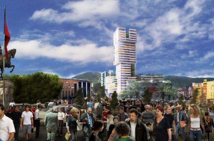 Eyes of Tirana – начинается строительство 26-этажного здания в центре столицы Албании